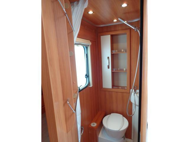 Bathroom in German built Caravan Hymer Eriba Nova