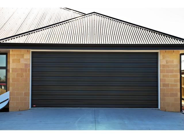 Futura Ribbed Sectional Door in Pitch Black