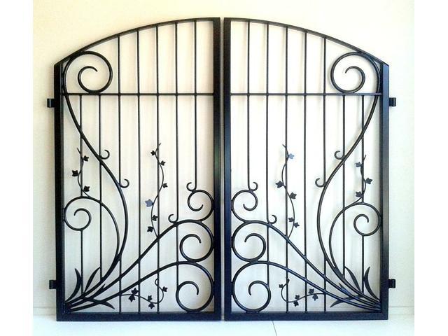 Double koru and vine gates
