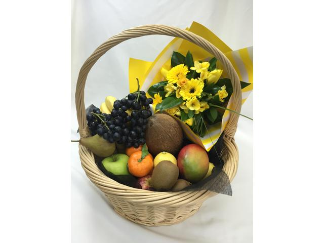 Fruitful (fruit and flower basket $149 )